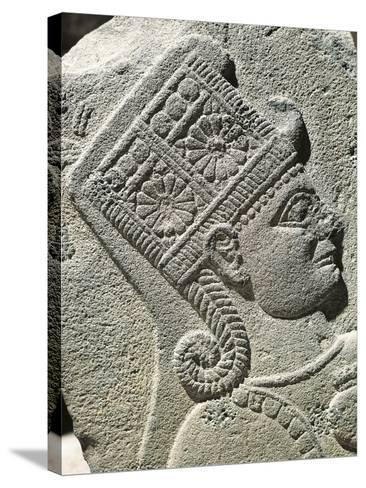 Basalt Slab with Relief Depicting Head of Young Prince, from Carchemish, Turkey--Stretched Canvas Print