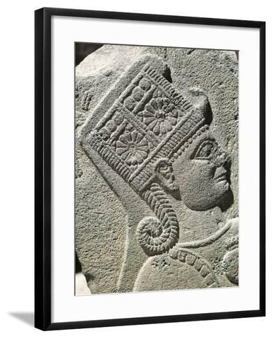 Basalt Slab with Relief Depicting Head of Young Prince, from Carchemish, Turkey--Framed Art Print