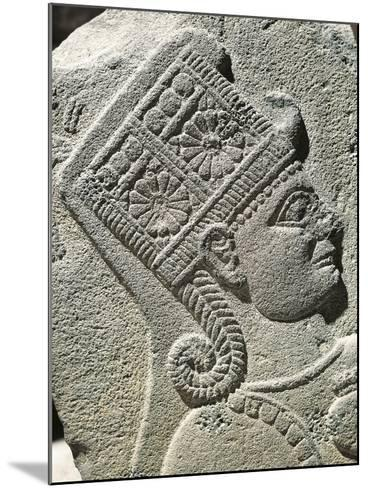 Basalt Slab with Relief Depicting Head of Young Prince, from Carchemish, Turkey--Mounted Giclee Print