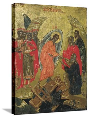 Christ Resurrected, Icon--Stretched Canvas Print