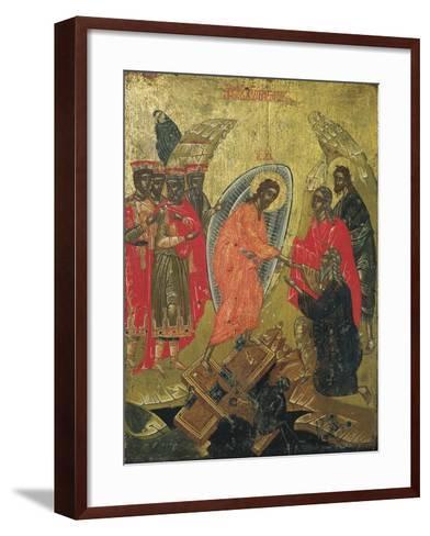 Christ Resurrected, Icon--Framed Art Print