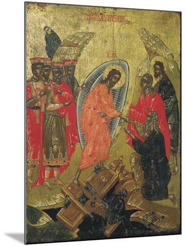 Christ Resurrected, Icon--Mounted Giclee Print