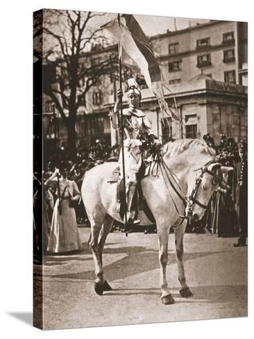 Elsie Howey as Joan of Arc, 17th April 1909--Stretched Canvas Print