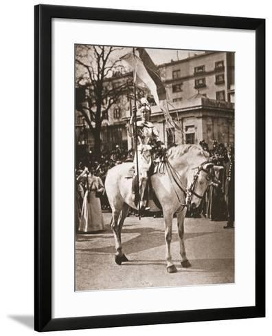 Elsie Howey as Joan of Arc, 17th April 1909--Framed Art Print