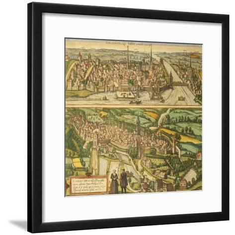 Map of Konstanz and St. Gallen from Civitates Orbis Terrarum--Framed Art Print