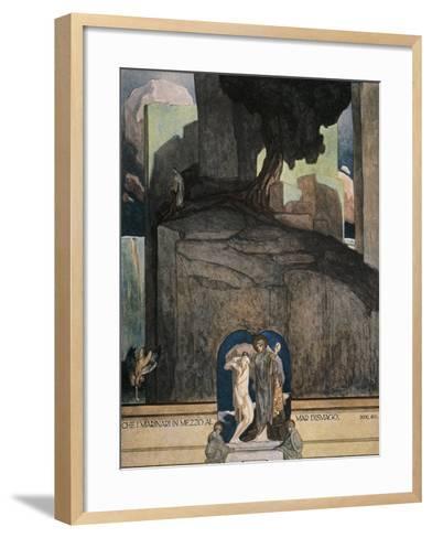 Austria, Vienna, Illustration of Dante Alighieri's Divine Comedy--Framed Art Print