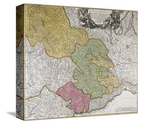Duchy of Savoy, Principality of Piedmont, Duchy of Monferrato and County of Nice--Stretched Canvas Print