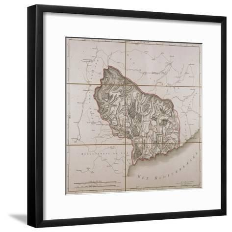 From the Maritime Alps District, Map from the National Atlas of France, Paris 1802.--Framed Art Print