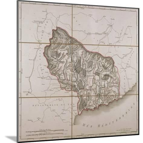 From the Maritime Alps District, Map from the National Atlas of France, Paris 1802.--Mounted Giclee Print