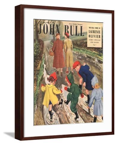 Front Cover of 'John Bull' Magazine, March 1949--Framed Art Print