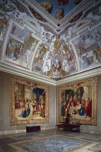 View of an Hall, Lateran Palace, Italy, Lazio Region, Rome--Stretched Canvas Print