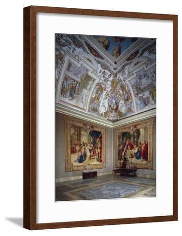 View of an Hall, Lateran Palace, Italy, Lazio Region, Rome--Framed Art Print
