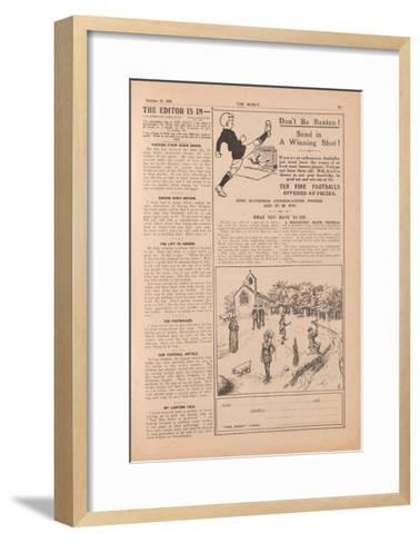 The Scout.', Vol.XX, No.861, 1924--Framed Art Print