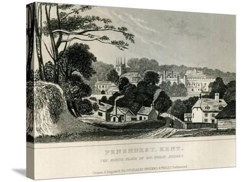 Penshurst, Kent, C.1840--Stretched Canvas Print