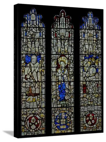 Window S6 Depicting St James, the Virgin and Child, Te Mass of St Gregory--Stretched Canvas Print
