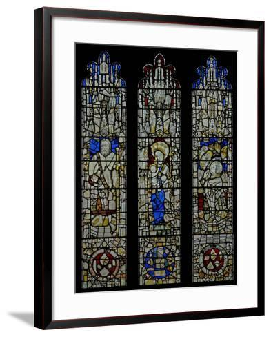 Window S6 Depicting St James, the Virgin and Child, Te Mass of St Gregory--Framed Art Print
