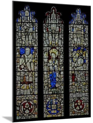 Window S6 Depicting St James, the Virgin and Child, Te Mass of St Gregory--Mounted Giclee Print