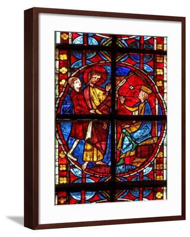 Window W210 Depicting St James before Herod--Framed Art Print