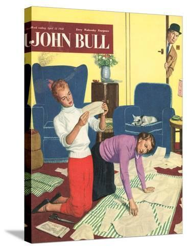 Front Cover of 'John Bull', April 1958--Stretched Canvas Print