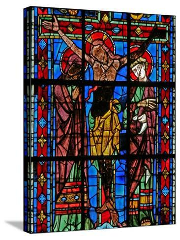 Window W200 Depicting the Crucifixion--Stretched Canvas Print