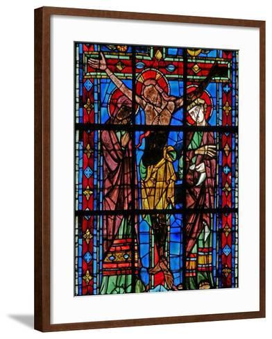 Window W200 Depicting the Crucifixion--Framed Art Print