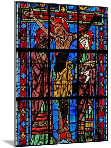 Window W200 Depicting the Crucifixion--Mounted Giclee Print