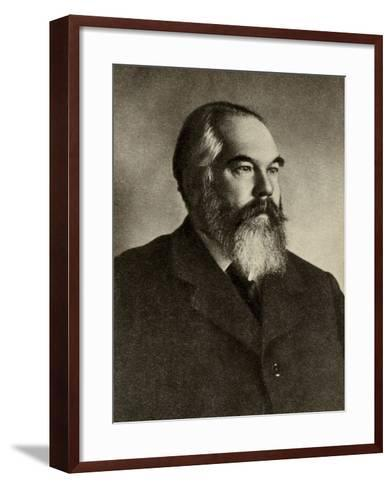 Portrait of Sergei Ivanovich Taneyev--Framed Art Print