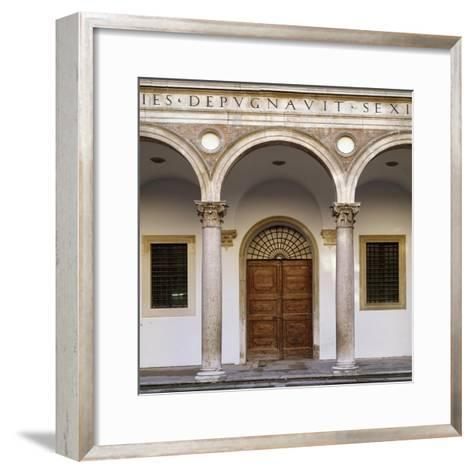 Glimpse of Courtyard of Honor, 1466-1472--Framed Art Print