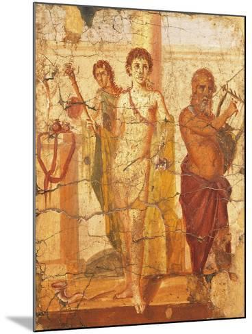 Fresco Depicting Hermaphrodite and Silenus, House of Centenary, Pompeii, Campania--Mounted Giclee Print