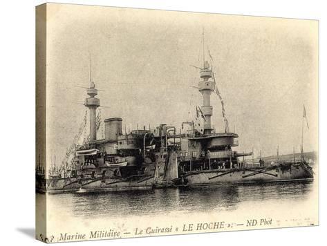 Französisches Kriegsschiff Le Hoche, Cuirassé--Stretched Canvas Print