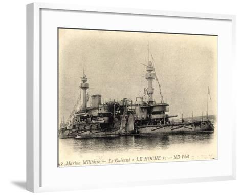 Französisches Kriegsschiff Le Hoche, Cuirassé--Framed Art Print
