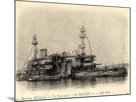 Französisches Kriegsschiff Le Hoche, Cuirassé--Mounted Giclee Print