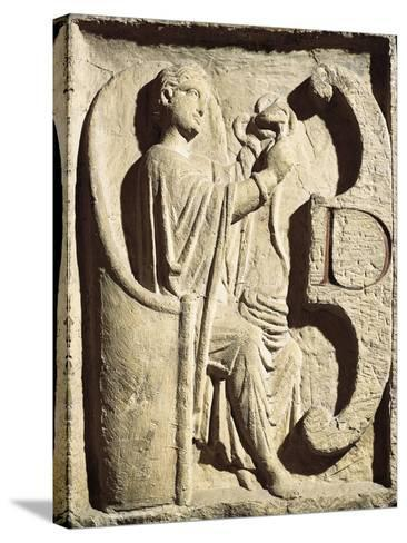 Relief Depicting One of the Parcae Spinning the Thread of Life--Stretched Canvas Print
