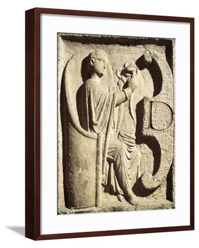 Relief Depicting One of the Parcae Spinning the Thread of Life--Framed Art Print