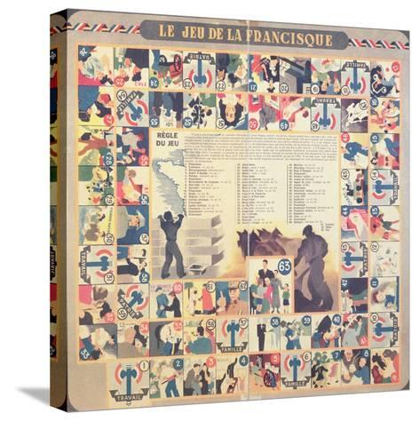 Le Jeu De La Francisque', Pro-Vichy Children's Board Game, after 1941--Stretched Canvas Print