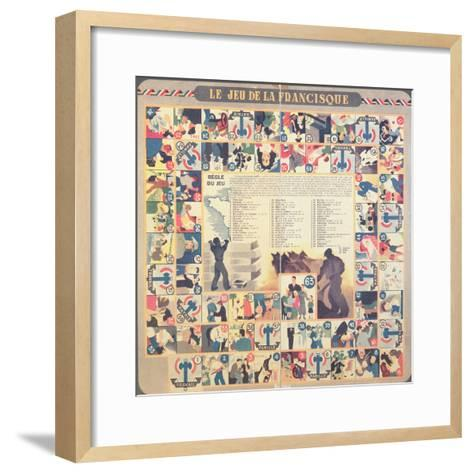 Le Jeu De La Francisque', Pro-Vichy Children's Board Game, after 1941--Framed Art Print