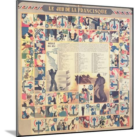 Le Jeu De La Francisque', Pro-Vichy Children's Board Game, after 1941--Mounted Giclee Print