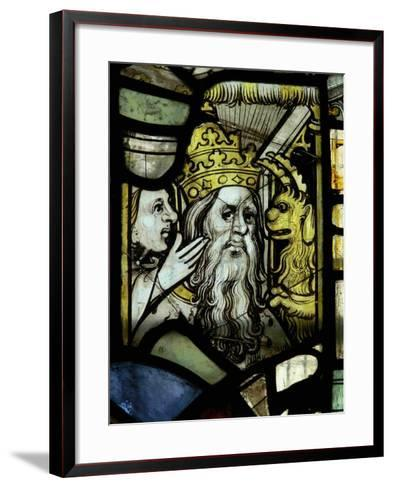 Window S3 Depicting a Pope Receiving Counsel from a Woman Egged-On by a Demon--Framed Art Print