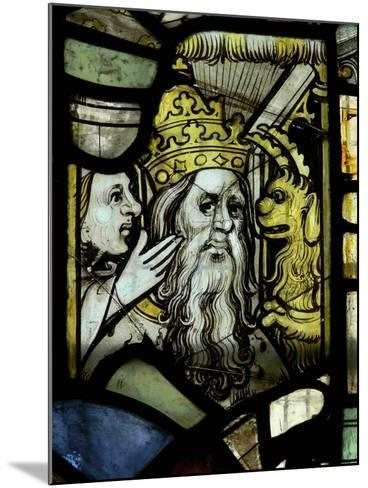 Window S3 Depicting a Pope Receiving Counsel from a Woman Egged-On by a Demon--Mounted Giclee Print