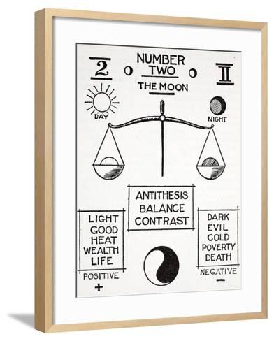 Number Two, the Moon--Framed Art Print
