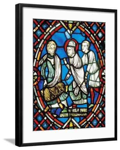 St Biagio before Roman Governor--Framed Art Print