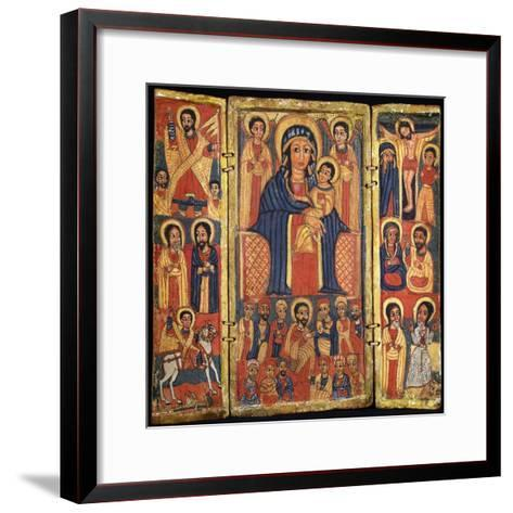 Risen Jesus, Apostles and St George and Dragon on Left--Framed Art Print