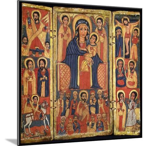 Risen Jesus, Apostles and St George and Dragon on Left--Mounted Giclee Print