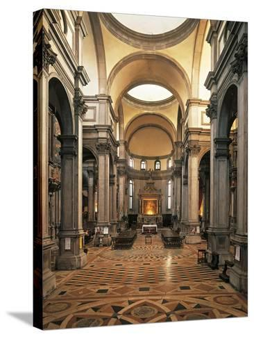 Central Nave, San Salvador Church--Stretched Canvas Print