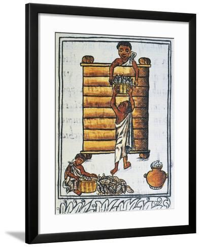 Storage of Corn in the Barn--Framed Art Print