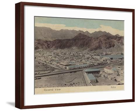 General View of Aden--Framed Art Print