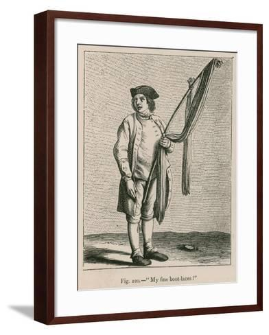 """""""My Fine Boot-Laces!""""--Framed Art Print"""