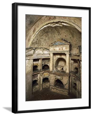 Interior of Columbarium of Pomponius Hylas AD, Porta Latina on Via Appia, Rome, Italy AD--Framed Art Print