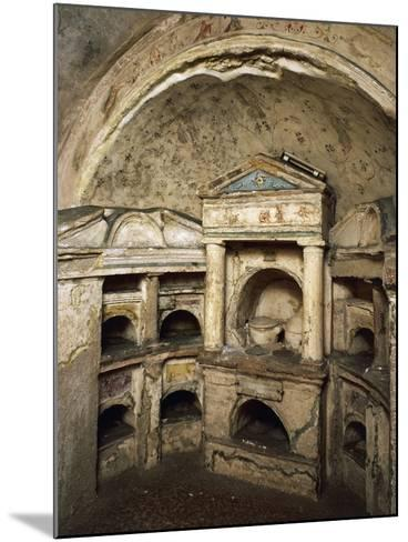 Interior of Columbarium of Pomponius Hylas AD, Porta Latina on Via Appia, Rome, Italy AD--Mounted Giclee Print