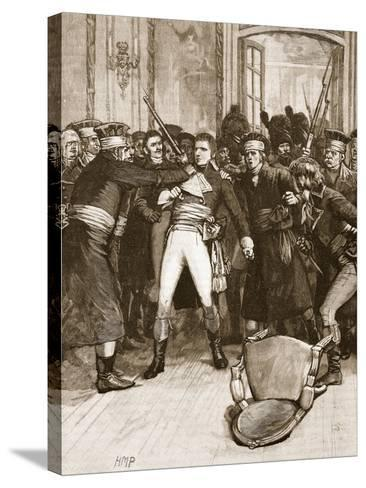 Napoleon's Coup De Main: Scene in the Hall of the Ancients--Stretched Canvas Print